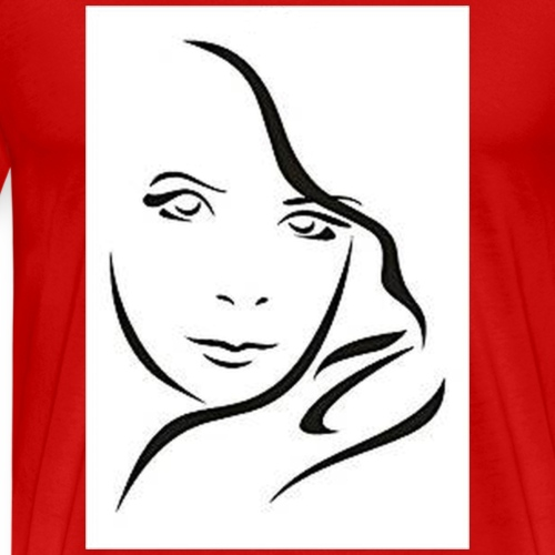 Frau Skizze2 - Männer Premium T-Shirt