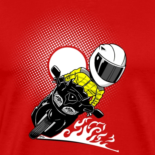 0791 FJR sun yellow vest white helmet - Mannen Premium T-shirt