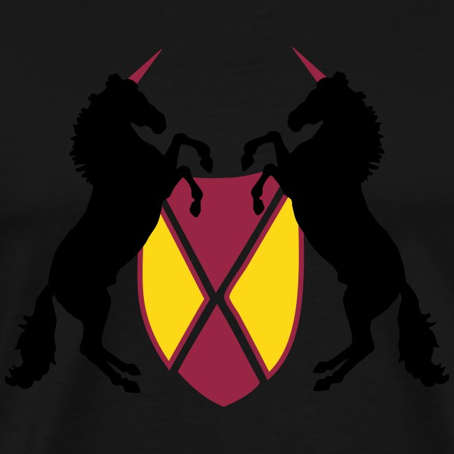 Unicorn Heraldry fantasy shield by patjila