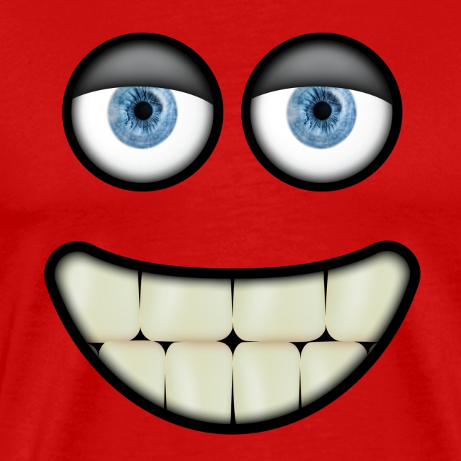Funny smiling face with eyes and big teeth