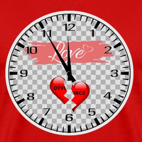 Divorce Love Uhr - Männer Premium T-Shirt