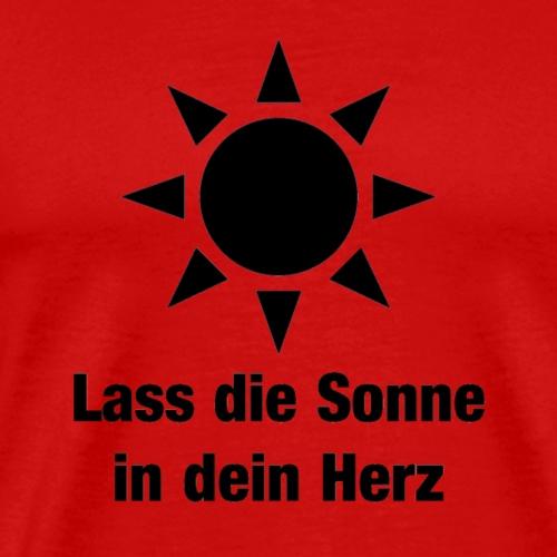 Sonne im Herzen - Männer Premium T-Shirt