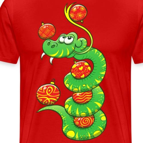 Christmas Snake - Men's Premium T-Shirt