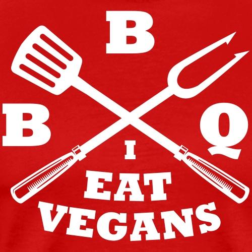 Barbecue je mange végétaliens - T-shirt Premium Homme