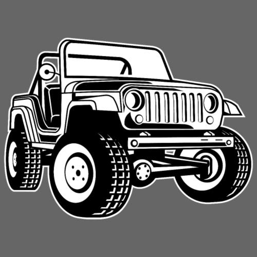 Geländewagen / Jeep SUV 03_schwarz weiß - Männer Premium T-Shirt