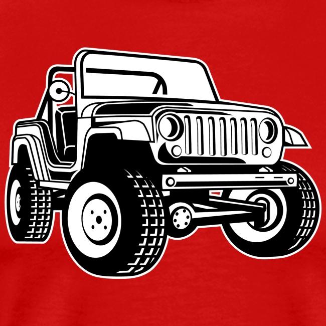 Geländewagen / Jeep SUV 03_schwarz weiß