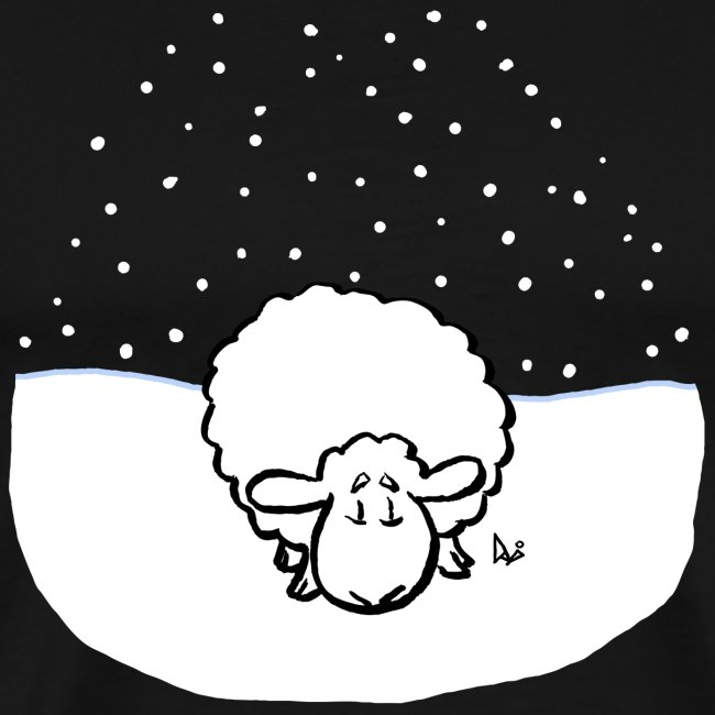 Schneebedeckte Schafe