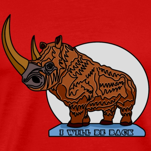 Woolly Rhinoceros - Maglietta Premium da uomo