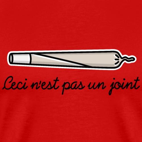 Ceci n'est pas un joint / pipe Kiffer Cannabis THC - Mannen Premium T-shirt