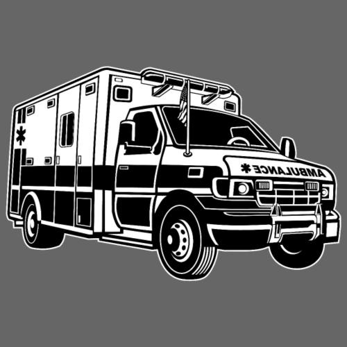 Krankenwagen / Rettungswagen 01_schwarz weiß - Männer Premium T-Shirt