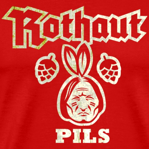 Rothaut Pils, distressed - Männer Premium T-Shirt
