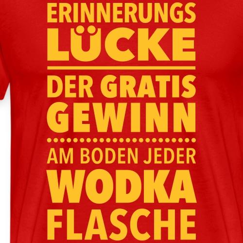 Erinnerungslücke Wodka Schnaps Kater Filmriss JGA - Men's Premium T-Shirt