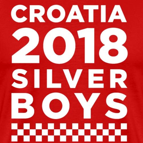 Croatia Silverboys 2018 Vatreni Hrvatska mi Hrvati - Männer Premium T-Shirt