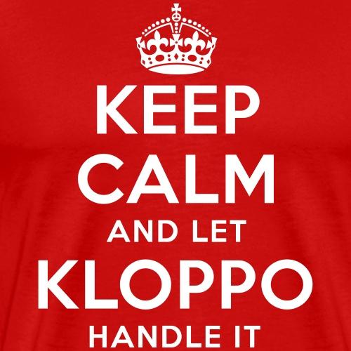keep calm and let kloppo handle it - Männer Premium T-Shirt