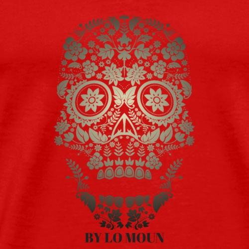 CRANE FLEURS NOIR ET GRIS - T-shirt Premium Homme