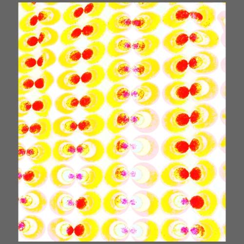 Tessuto pop-art giallo - Maglietta Premium da uomo