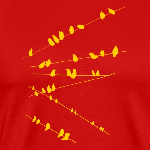 Vögel auf den Stromleitungen - Männer Premium T-Shirt