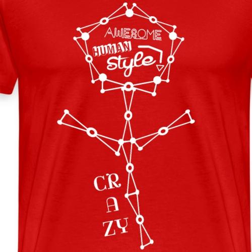 Awesome Human Style 2 - Männer Premium T-Shirt