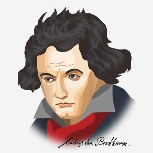 Beethoven im abstrakten Stil - Männer Premium T-Shirt