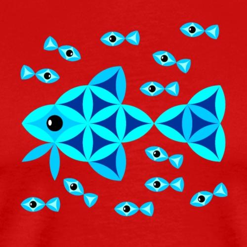 The Fish Of Life - Sacred Animals - Men's Premium T-Shirt