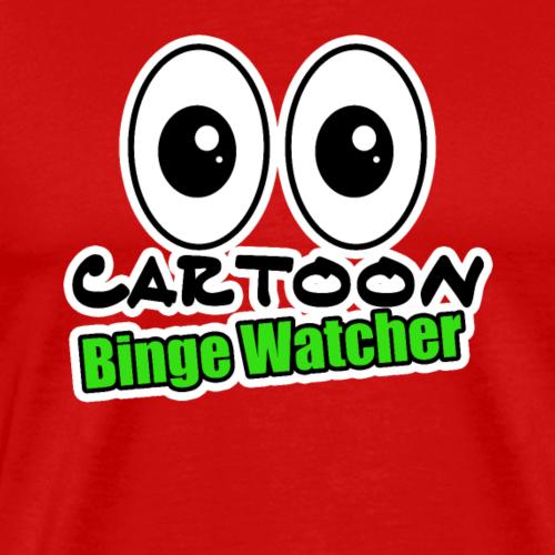 Cartoon Große Augen Binge Watcher Comic Geschenk - Männer Premium T-Shirt