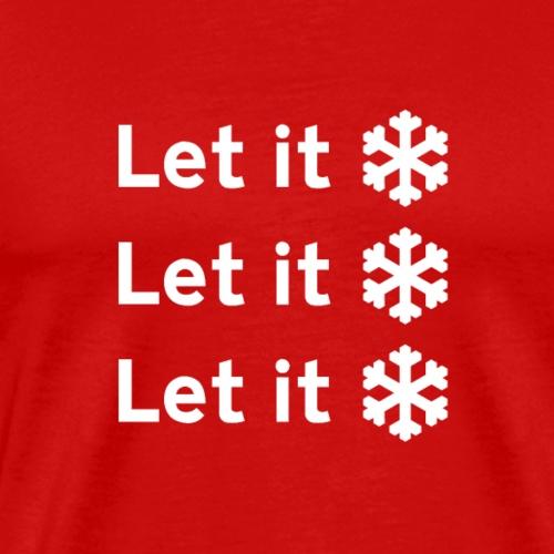 Funny Christmas Xmas Let it Snow! - Men's Premium T-Shirt