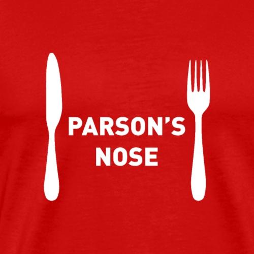 Funny Christmas Menu Choice - Parson's Nose - Men's Premium T-Shirt