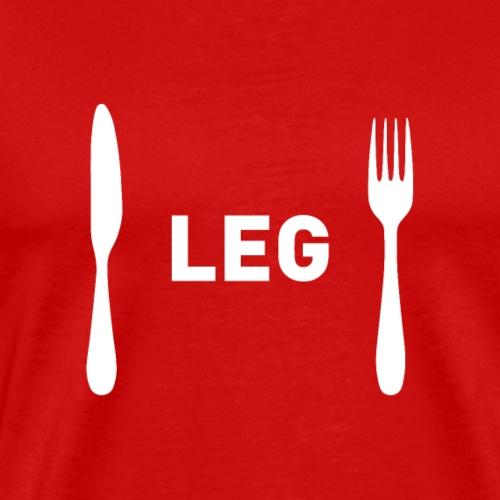 Funny Christmas Menu Choice - Leg - Men's Premium T-Shirt