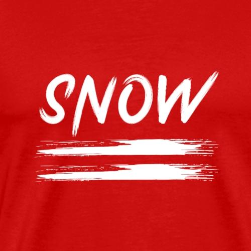 schnee in linien - Männer Premium T-Shirt