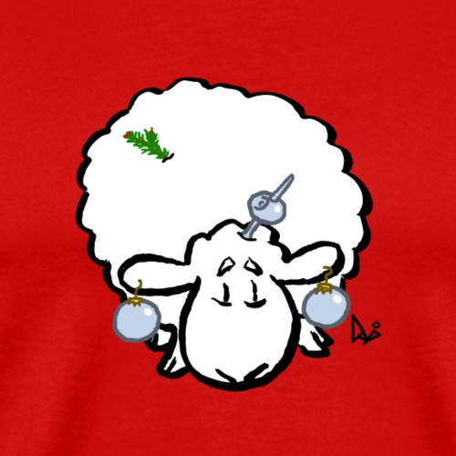 Christmas Tree Sheep - Men's Premium T-Shirt
