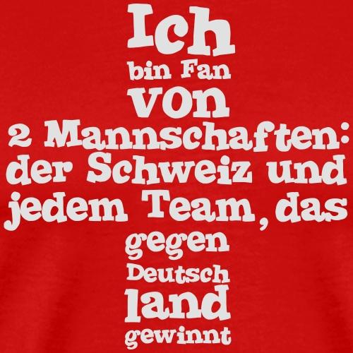 Fan von zwei Mannschaften - Männer Premium T-Shirt