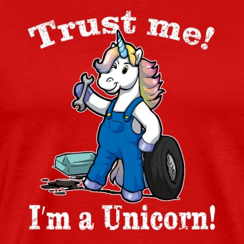 Drôle de licorne cadeau de mécanicien automobile - T-shirt Premium Homme