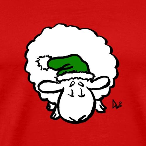 Julemanden får (grøn) - Herre premium T-shirt