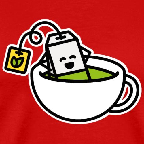 Groene Thee Matcha Theezakje Theekopje Yoga Relax - Mannen Premium T-shirt
