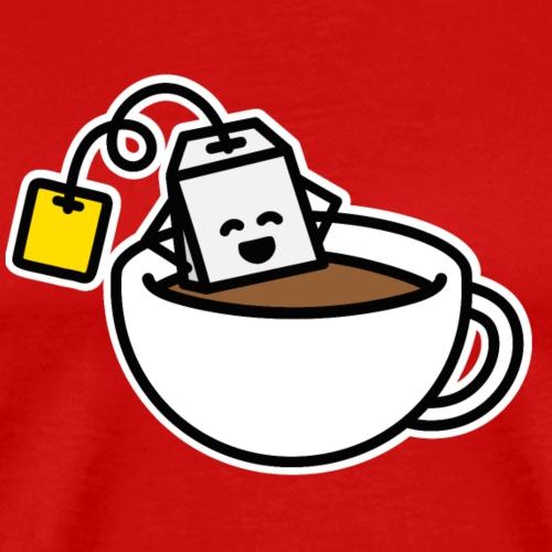Grappig theezakje Teacup Spa Relax Cup Tea - Mannen Premium T-shirt