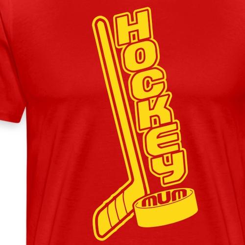 Hockey Mum, Stick & Puck - Men's Premium T-Shirt