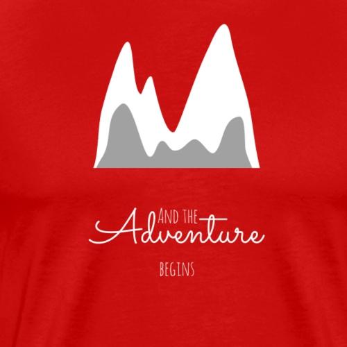 And the Adventure begins. - Männer Premium T-Shirt