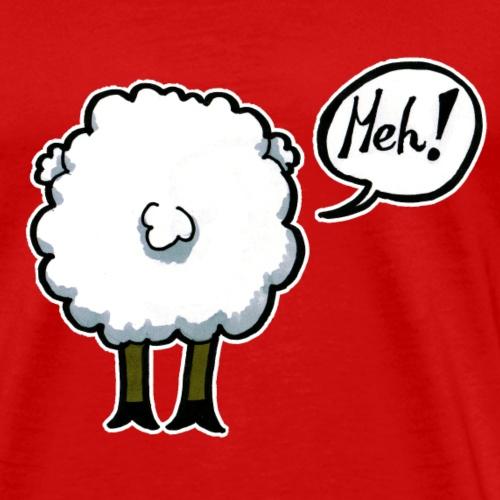 meh mouton bande dessinée insulté drôle cadeau drôle - T-shirt Premium Homme