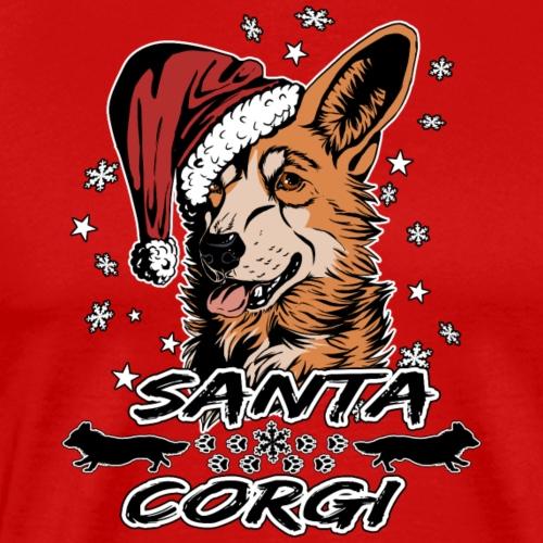 Santa Corgi - Männer Premium T-Shirt
