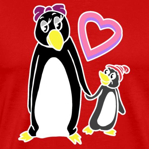 Drôle de pingouin Maman Mamie Idée cadeau fête des mères - T-shirt Premium Homme