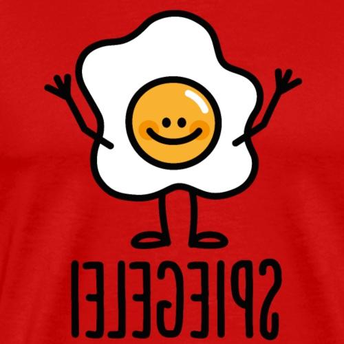 Spiegelei Gebakken Ei Spiegelbeeld Keto Dieet grap - Mannen Premium T-shirt