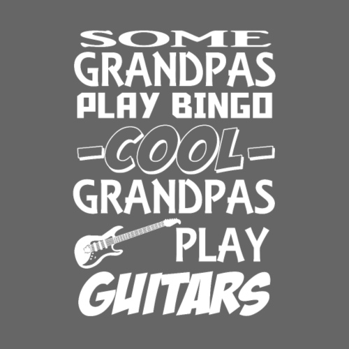 Some grandpas play bingo,cool grandpas play guitar - Men's Premium T-Shirt