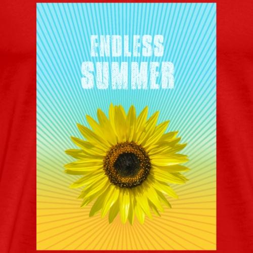 sunflower endless summer Sonnenblume Sommer - Männer Premium T-Shirt