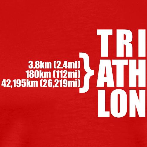Triathlon Sport Distance - Männer Premium T-Shirt