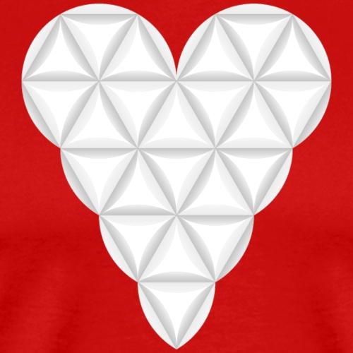 The Heart of Life x 1, New Design /Atlantis -03. - Men's Premium T-Shirt