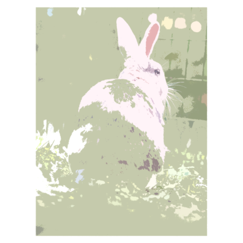 Millitary green bunny - Men's Premium T-Shirt