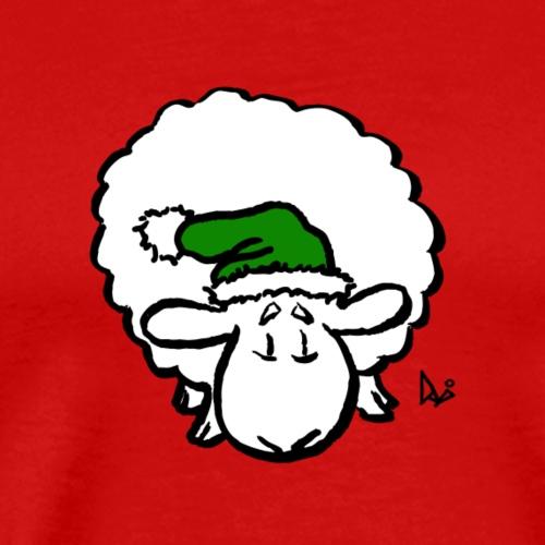 Weihnachtsschaf (grün) - Männer Premium T-Shirt