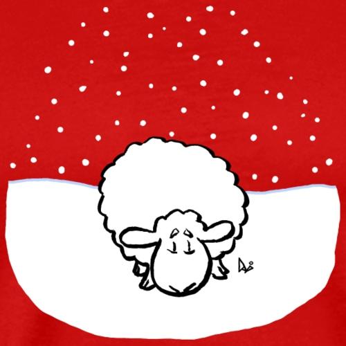 Schneebedeckte Schafe - Männer Premium T-Shirt