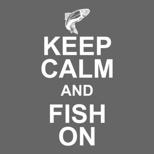Keep calm and fish on - Men's Premium T-Shirt
