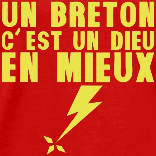 un breton dieu en mieux foudre - T-shirt Premium Homme